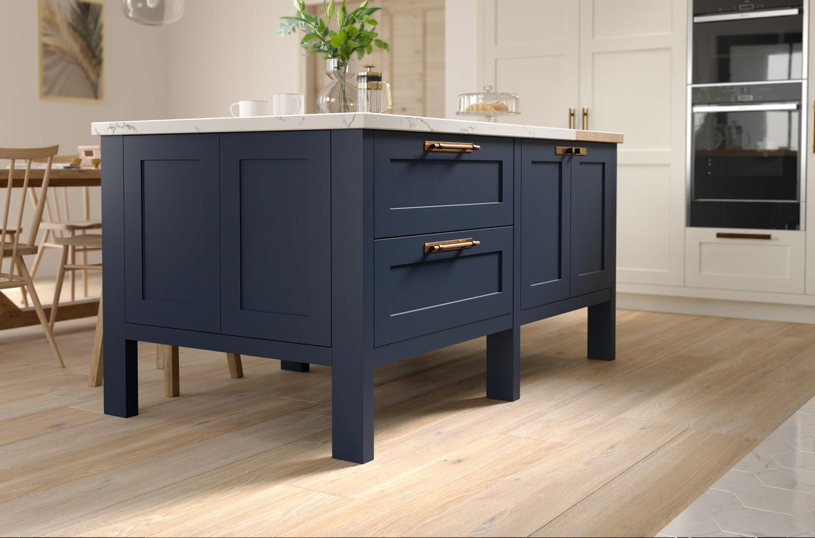 Kitchen Company Second Nature Kitchens, Hunton Porcelain & Hartforth Blue ...